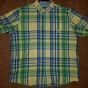 Chaps short sleeve button-down men's top